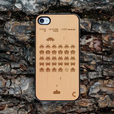 Apple iPhone 4 / 4S Space Invaders Suojakotelo