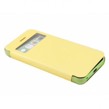 Apple iPhone 5C Ohut Ikkuna Läppäkuori Keltainen