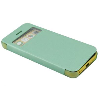 Apple iPhone 5C Ohut Ikkuna Läppäkuori Vihreä