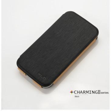 Samsung Galaxy S4 KLD Ohut Musta Läppäkotelo