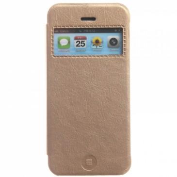 Apple iPhone 5 / 5S / SE Kulta Ikkunallinen Läppäkotelo