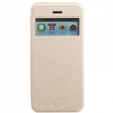 Apple iPhone 5 / 5S / SE Valk. Ikkunallinen Läppäkotelo