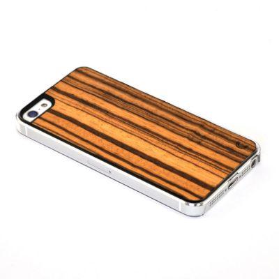 Apple iPhone 5 / 5S Puu Zebrawood Suojakotelo