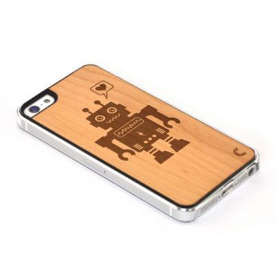Apple iPhone 5 / 5S Robotti Leppä Suojakotelo