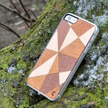 Apple iPhone 5 / 5S / SE Mosaiikki Puu Suojakotelo