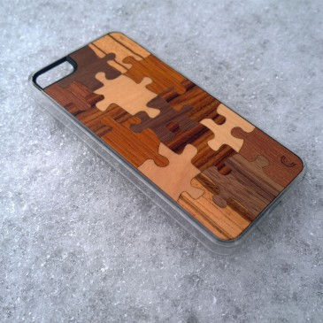 Apple iPhone 5 / 5S / SE Palapeli Puu Suojakotelo