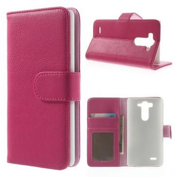 LG G3 S Pinkki PU-Nahka Lompakko Suojakotelo
