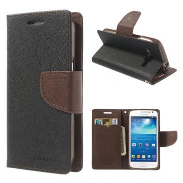 Samsung Galaxy Express 2 Musta Fancy Lompakkokotelo