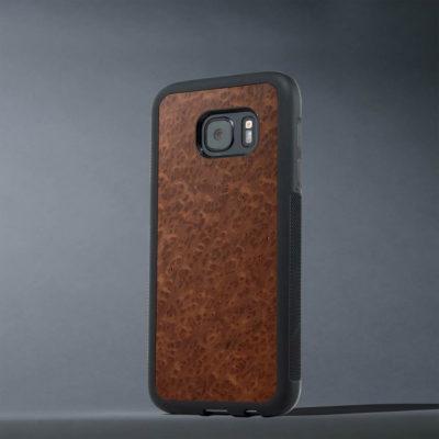 Samsung Galaxy S7 Suojakuori Carved Punapuu Pahka