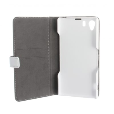 Sony Xperia Z1 Valkoinen Nahka Läppäkotelo