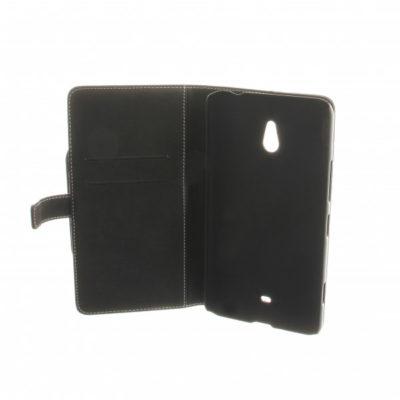 Nokia Lumia 1320 Läppäkotelo Musta Nahka