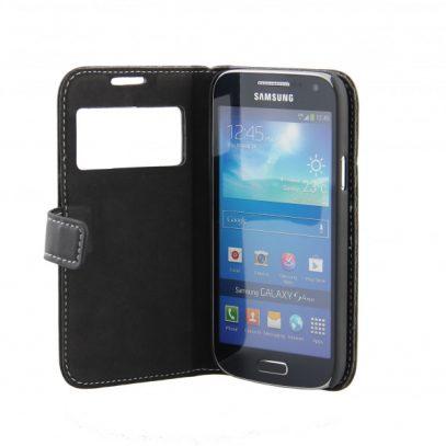 Samsung S4 Mini Musta Ikkuna Suoja kotelo