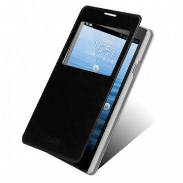 Huawei Ascend G700 Musta Ikkuna Suojakotelo