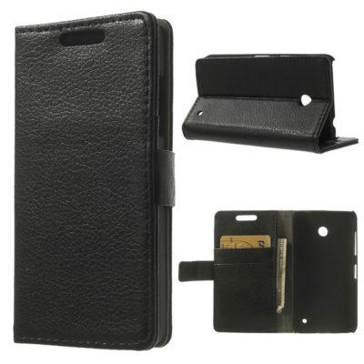 Nokia Lumia 630 Läppä Suojakotelo Musta