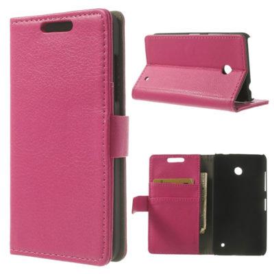 Nokia Lumia 630 Läppä Suojakotelo Pinkki