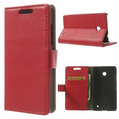 Nokia Lumia 630 Läppä Suojakotelo Punainen