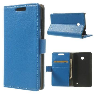 Nokia Lumia 630 Läppä Suojakotelo Sininen
