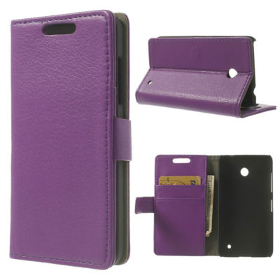 Nokia Lumia 630 Läppä Suojakotelo Violetti
