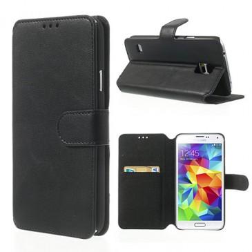Samsung Galaxy S5 Musta Läppä Suojakotelo