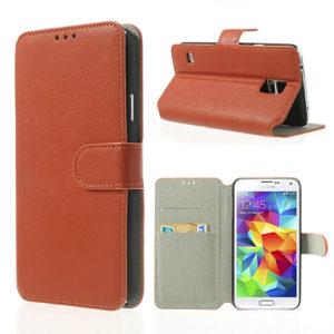 Samsung Galaxy S5 Oranssi Läppä Suojakotelo