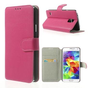 Samsung Galaxy S5 Pinkki Läppä Suojakotelo