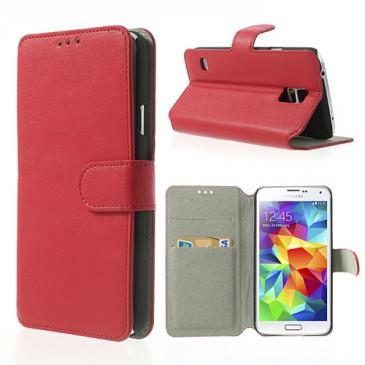Samsung Galaxy S5 Punainen Läppä Kotelo
