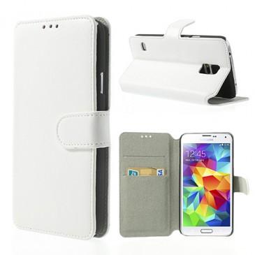 Samsung Galaxy S5 Valkoinen Läppä Kotelo