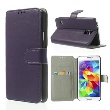 Samsung Galaxy S5 Violetti Läppä Suojakotelo