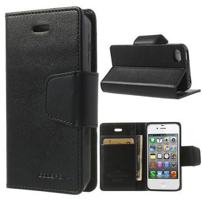 Apple iPhone 4 / 4S Musta Goospery Lompakkokotelo