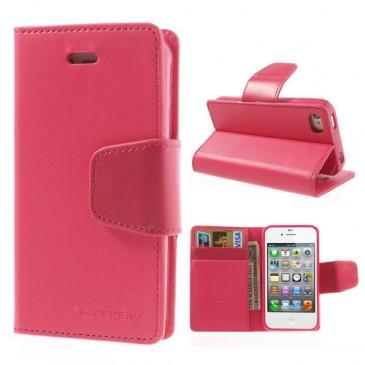 Apple iPhone 4 / 4S Pinkki Goospery Lompakkokotelo