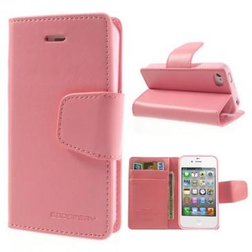 Apple iPhone 4 / 4S Vaaleanp. Goospery Lompakkokotelo
