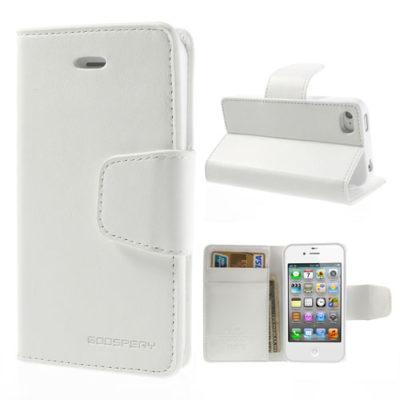 Apple iPhone 4 / 4S Valkoinen Goospery Lompakkokotelo
