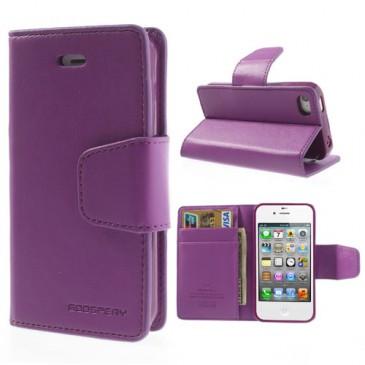 Apple iPhone 4 / 4S Violetti Goospery Lompakkokotelo