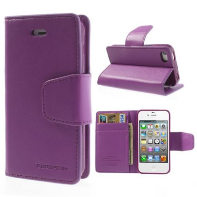 Apple iPhone 4 / 4S Violetti Goospery Lompakkokotelo