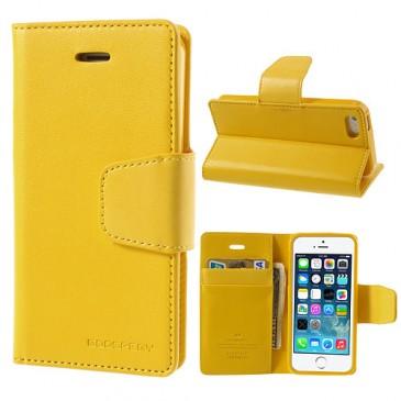 Apple iPhone 5 / 5S / SE Keltainen Goospery Lompakkokotelo
