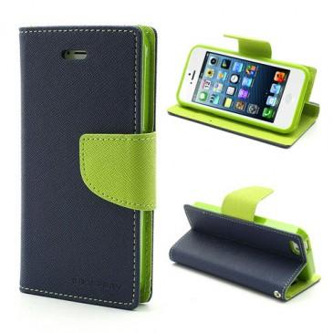 Apple iPhone 5 / 5S / SE T.Sininen Fancy Lompakkokotelo