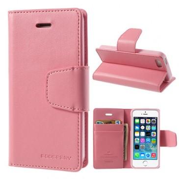 Apple iPhone 5 / 5S / SE Vaaleanp. Goospery Lompakkokotelo