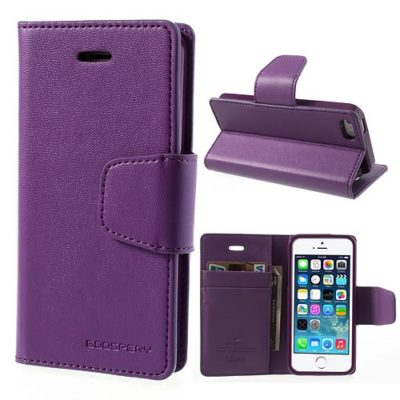 Apple iPhone 5 / 5S / SE Violetti Goospery Lompakkokotelo