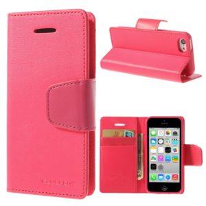 Apple iPhone 5C Pinkki Goospery Lompakkokotelo