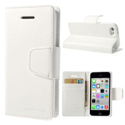Apple iPhone 5C Valkoinen Goospery Lompakkokotelo