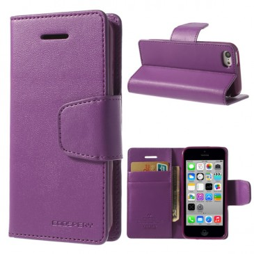 Apple iPhone 5C Violetti Goospery Lompakkokotelo
