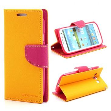 Samsung Galaxy S3 Keltainen Fancy Lompakko