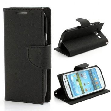 Samsung Galaxy S3 Musta Fancy Lompakkokotelo