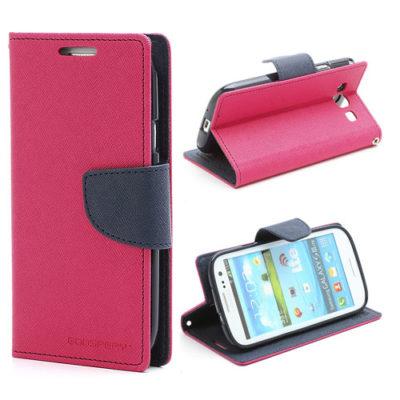 Samsung Galaxy S3 Pinkki Fancy Lompakkokotelo