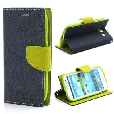 Samsung Galaxy S3 T.Sininen Fancy Lompakkokotelo
