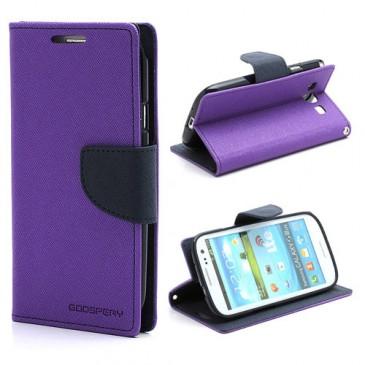 Samsung Galaxy S3 Violetti Fancy Lompakkokotelo