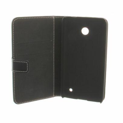 Nokia Lumia 635 Läppäkotelo Musta Nahka
