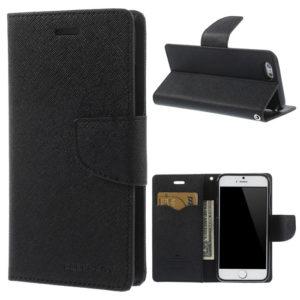 Apple iPhone 6 / 6S Musta Fancy Lompakko Suojakotelo