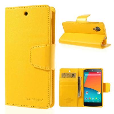 LG Nexus 5 Keltainen Sonata Lompakkokotelo