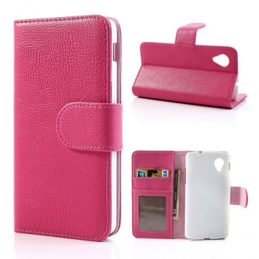 LG Nexus 5 Pinkki Lompakko Suojakotelo